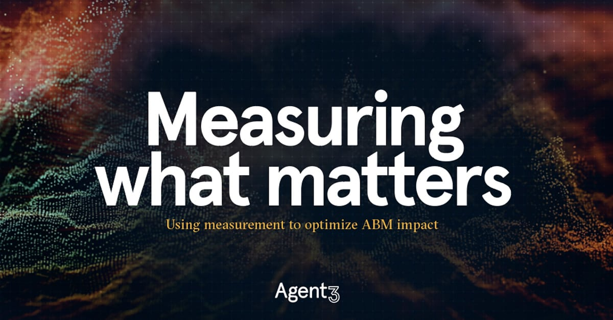 Cracking the measurement challenge – the Holy Grail for ABM-ers